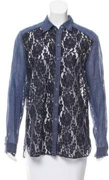 Diesel Lace Button-Up Top