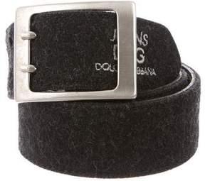 Dolce & Gabbana Woven Felt Belt
