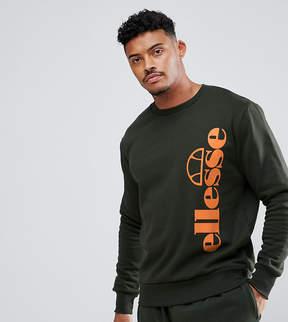 Ellesse Tito Crew Neck Sweatshirt In Green