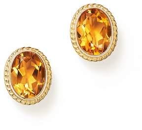 Bloomingdale's Citrine Oval Bezel Stud Earrings in 14K Yellow Gold - 100% Exclusive