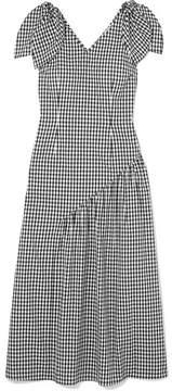 DAY Birger et Mikkelsen REJINA PYO - Lily Bow-embellished Gingham Cotton Midi Dress - Black