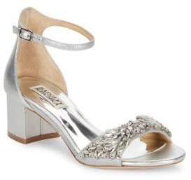 Badgley Mischka Tamara Leather Ankle-Strap Sandals