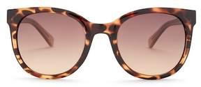 Diane von Furstenberg Women's Modified Plastic Cat Eye Sunglasses