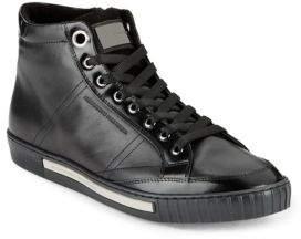 Alessandro Dell'Acqua Leather High-Top Sneakers