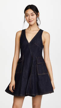Carven Sleeveless Dress with Pockets