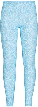 Capezio Blue Floral Wanderer Leggings - Girls