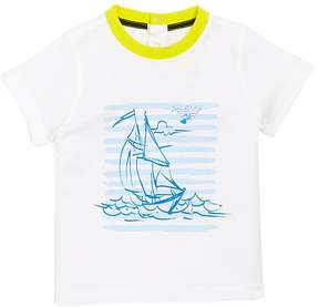 Armani Junior Boy's Sailboat Graphic Tee - Baby