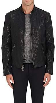 John Varvatos Men's Wrinkled Leather Jacket