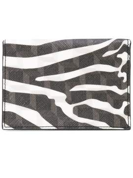 Pierre Hardy zebra printed canvas wallet