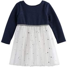 Youngland Baby Girl Glitter Dress