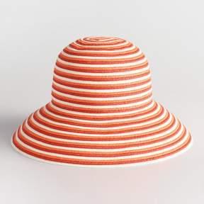 World Market Orange Stripe Bucket Hat