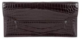 Hermes Niloticus Crocodile Faco Clutch - BLACK - STYLE