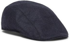 Brunello Cucinelli Leather-Trimmed Mélange Wool Flat Cap