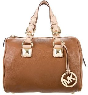 MICHAEL Michael Kors Grayson Leather Satchel - BROWN - STYLE