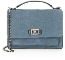 Rebecca Minkoff Medium Je T'Aime Leather Crossbody Bag - DUSTY BLUE - STYLE