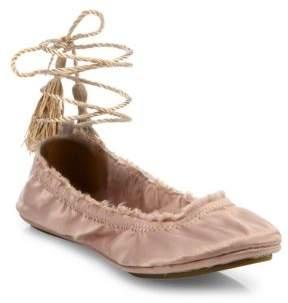 Joie Bandele Satin Ballet Flats
