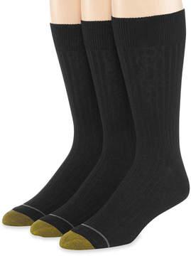 Gold Toe 3-pk. Dress Canterbury Crew Socks