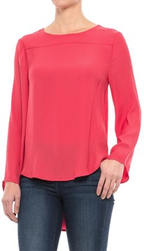 Chelsea & Theodore High-Low Blouse - Open Back, Long Sleeve (For Women)