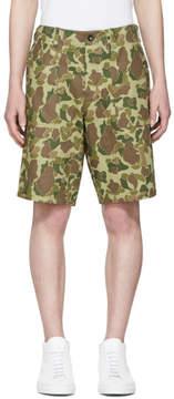 Rag & Bone Green Camo Field Shorts