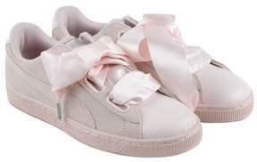 Puma Heart Bubble Pearl Pearl Womens Lace Up Sneakers