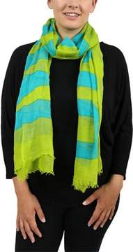Moschino Scr11235/17 Bright Green Signature Scarf.
