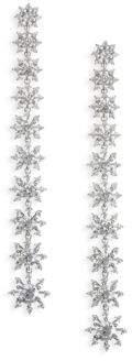 Adriana Orsini Holiday Ear Crystal Petal Drop Earrings