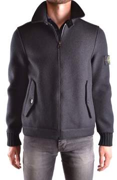 Stone Island Men's Black Wool Jacket.