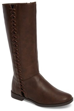 Kenneth Cole New York Girl's Kennedy Lace Riding Boot