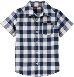 Osh Kosh Oshkosh Bgosh Toddler Boy Checked Button Down Shirt