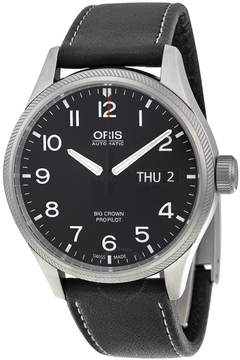 Oris Big Crown Pro Pilot Black Dial Black Leather Men's Watch