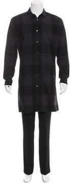 Robert Geller Plaid Flannel Shirt