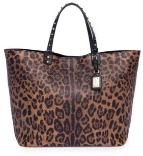 Dolce & Gabbana Leopard Leather Tote