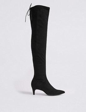 Marks and Spencer Kitten Heel Side Zip Over the Knee Boots