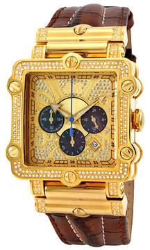 JBW Men's Phantom Leather Diamond Watch - 2.38 ctw
