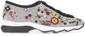 Fendi jacquard floral sneakers