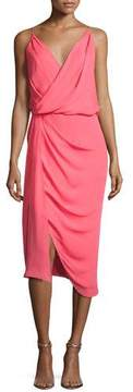 Camilla And Marc Sage Silk Crepe de Chine Cocktail Dress, Pink