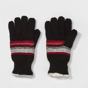 Isotoner Women's Stripe Knit Glove - Black