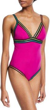 LaBlanca La Blanca Threading Along One-Piece Swimsuit