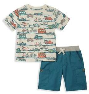 Kids Headquarters Baby Boy's Two-Piece Printed Tee and Shorts Set