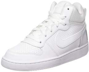 Nike 839977-100: Court Borough Mid Big Kids White/White Basketball Sneaker (5 M US Big Kid)