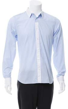 Calvin Klein Collection Contrast Striped Button-Up Shirt