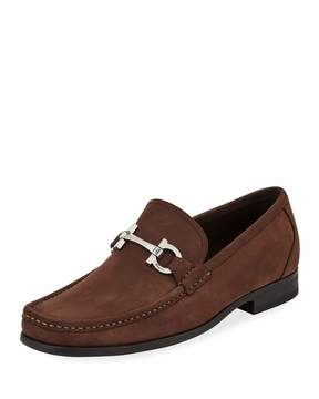 Salvatore Ferragamo Men's Grandioso Slip-On Suede Loafers