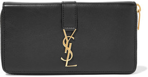 Saint Laurent Textured-leather Continental Wallet - Black - BLACK - STYLE