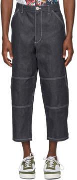 Comme des Garcons Indigo Plain Jeans