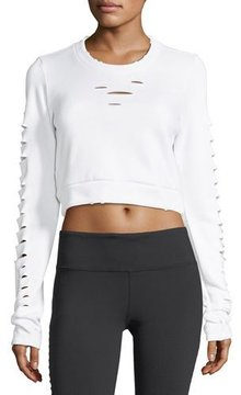Alo Yoga Ripped Warrior Long-Sleeve Crop Top