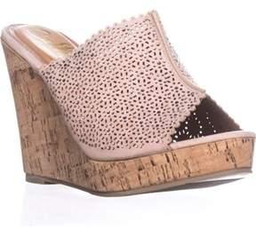 Callisto Lovie Embellished Platform Wedge Sandals, Beige.