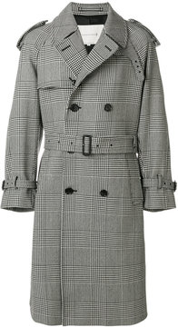 MACKINTOSH checked double breasted coat