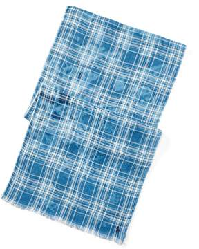 Ralph Lauren Plaid Linen Scarf
