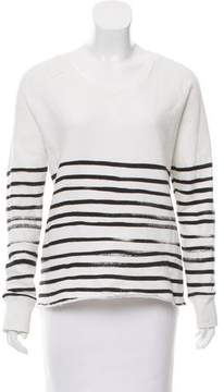 Each X Other Striped Distressed Sweater