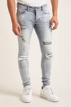 21men 21 MEN Victorious Embroidered Jeans